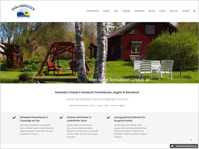 Homepage Smalandreisen.de – Neuer Internet Auftritt