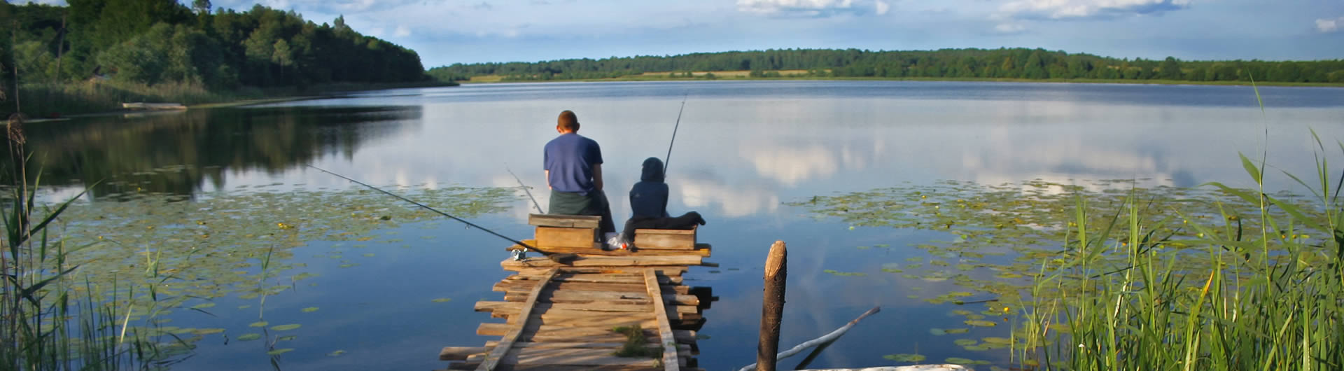 Angeln am See in Smaland (Schweden)