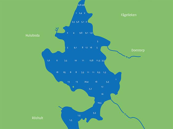 Skärsjön-Tiefenkarte: Angeln in Schweden (Smaland)