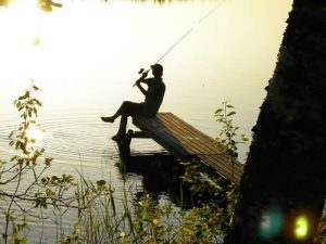 Angeln am Kalvsjön in Schweden: Angel auswerfen
