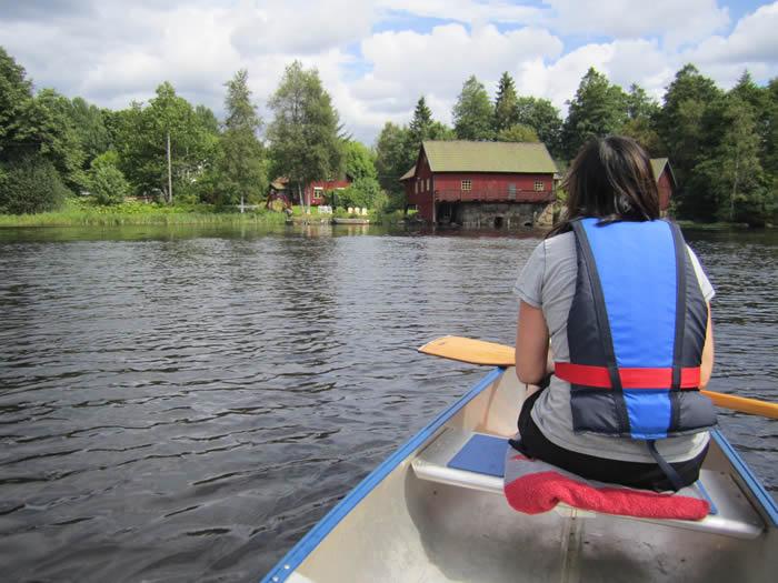 Flusswandern in Schweden auf demm See/Fluss Vrigstadsan