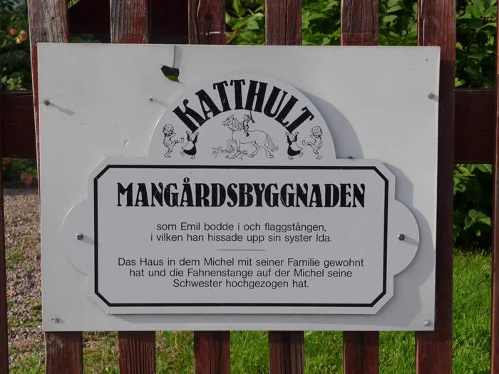 Michel aus Lönneberga - Katthult-Hof - Türschild