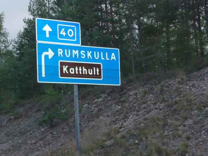 Michel aus Lönneberga in Smaland - Schweden: Wegweiser zum Katthult-Hof