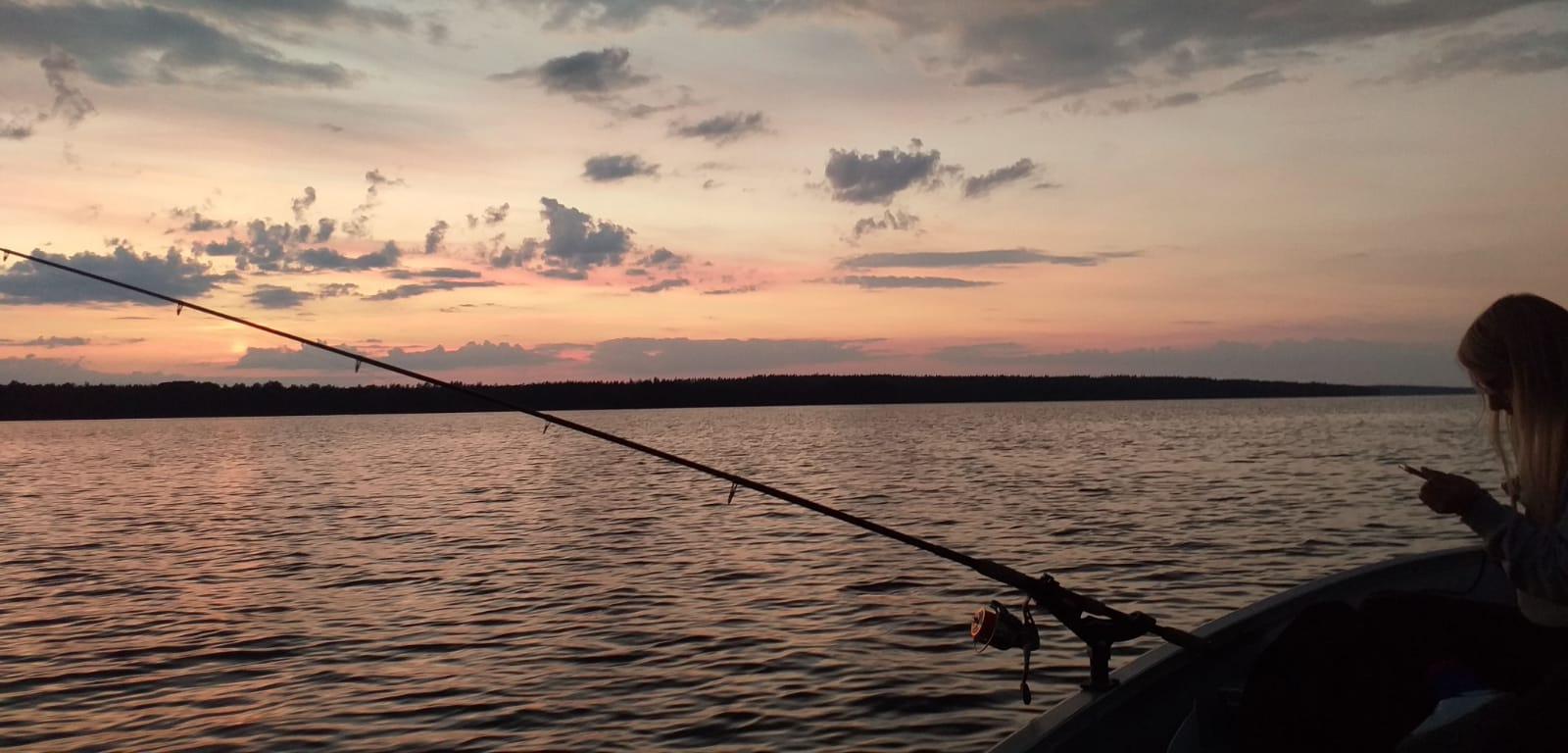Abenddämmerung Auf Dem See Rusken
