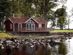 Smaland Ferienhaus am See mit Sauna: Bullerbü