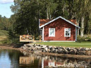 """Schweden - Smaland: Ferienhaus - Haus """"Bullerbü"""" - Außenansicht"""