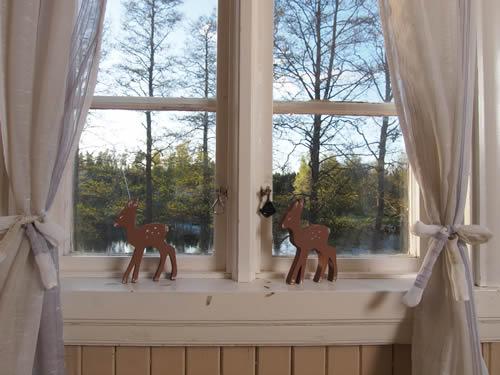 """Schweden - Smaland: Ferienhaus am See - Haus """"Katthult"""" - Küchenfenster"""