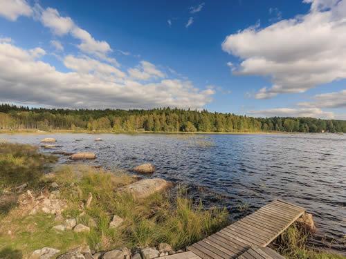 """Schweden - Smaland: Ferienhaus Am See - Haus """"Tegelviken"""" - Kleiner Badesteeg Am See"""