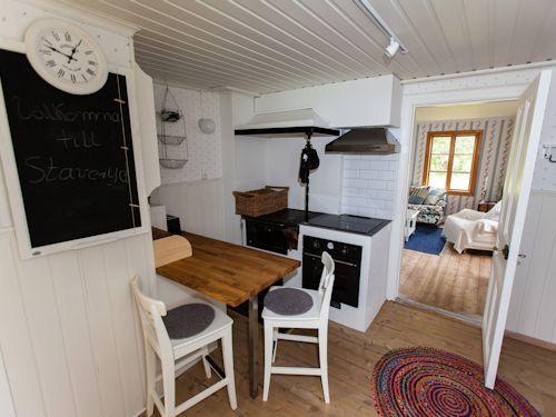 Die Küche im Torp Staveryd ist neu und sehr stilvoll eingerichtet.