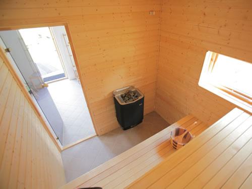 """Schweden Ferienhaus See in Smaland - Haus """"Torp Staveryd"""" - Sauna Innenansicht"""