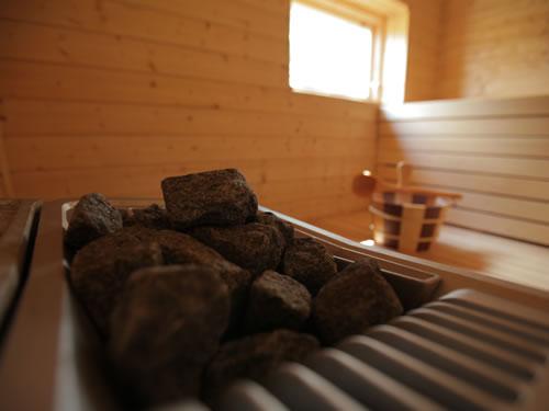 """Schweden Ferienhaus mit Sauna am See in Smaland - Haus """"Torp Staveryd"""" - Saunaofen"""