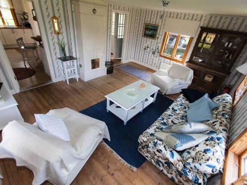 """Schweden - Smaland: Ferienhaus am See - Haus """"Torp Staveryd"""" - Wohnzimmer"""