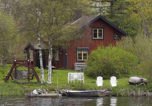 ferienhaus in schweden am see rusken in smaland f r ihren urlaub. Black Bedroom Furniture Sets. Home Design Ideas