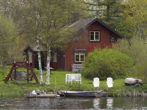 """Schweden Ferienhaus am See mit Sauna - Haus """"Troll"""""""