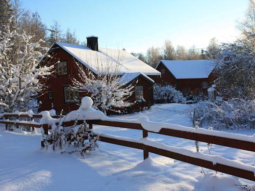"""Schweden - Smaland: Ferienhaus am See im schwedischen Winter - Haus """"Troll"""""""