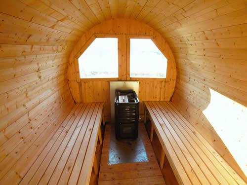 Sauna (innen) im Schweden Ferienhaus am See in Smaland (Südschweden)
