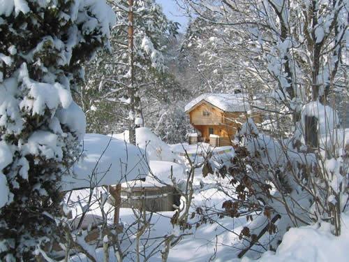"""Schweden - Smaland: Ferienhaus - Haus """"Knäppen"""" - Schnee"""
