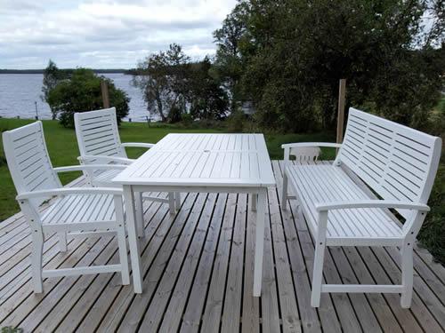 """Schweden - Smaland: Ferienhaus - Haus """"Madita"""" - Terrasse mit Seeblick auf den Ruskensee"""