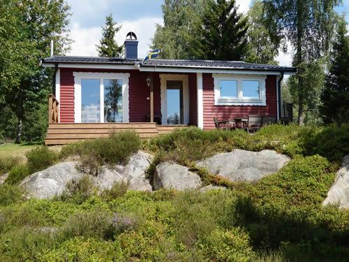 """Schweden - Smaland: Ferienhaus am See Langen - Haus """"Michel"""" - Sonnenterrasse"""