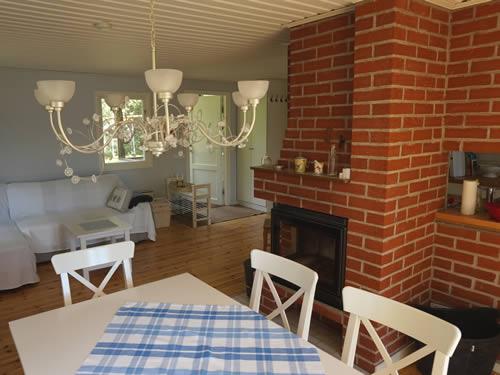 """Schweden - Smaland: Ferienhaus am See Langen - Haus """"Michel"""" - Wohnzimmer"""