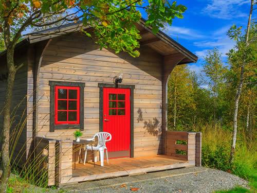 Schweden Ferienhütte am See Vrigstadsan: Haus Ronja