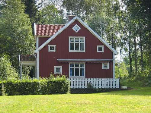 Schweden Ferienhaus am See Rusken