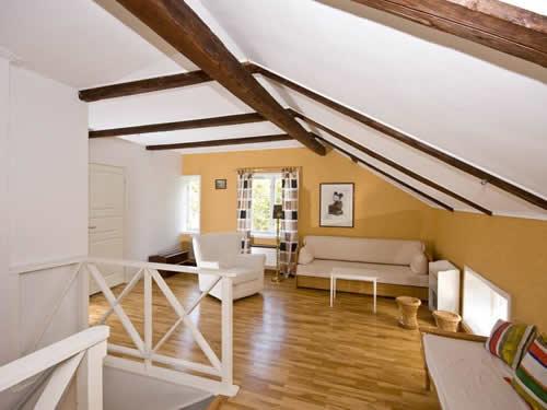 """Schweden - Smaland: Ferienhaus - Haus """"Schweden"""" - Wohnzimmer unter dem Dach"""