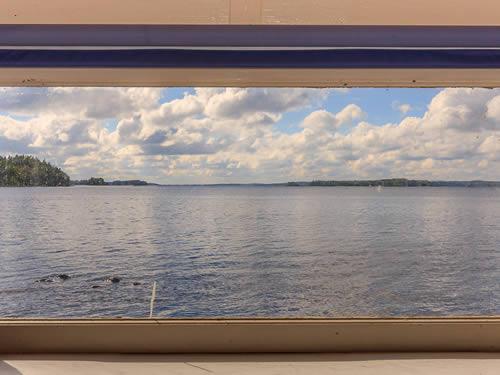 """Schweden - Smaland: Ferienhaus am See - Haus """"Ulf"""" - Schlafraum mit Seeblick"""