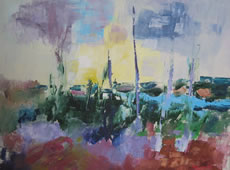 Kunsthandwerk - Malerei am Ruskensee in Smaland (Schweden) - Bild Michel Duval