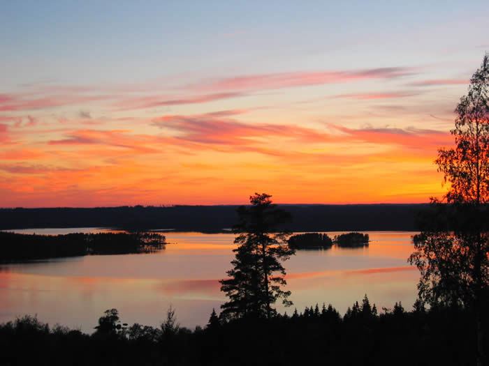 Schweden - Smaland: Angelcamp - Sonnenuntergang am See