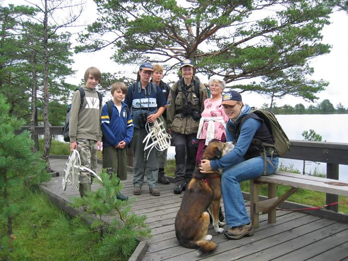 Smaland (Schweden): Nationalparkt Store Mosse - Pause nach Wanderung