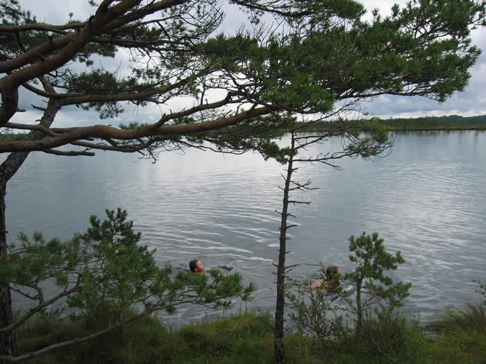 Smaland (Schweden): Nationalparkt Store Mosse - Baden im See