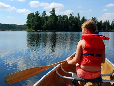 Schweden - Smaland: Kanu-Tour auf dem See
