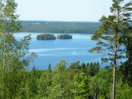 Schweden - Smaland: Einer der schönsten Ausblicke in Südschweden auf den Ruskensee