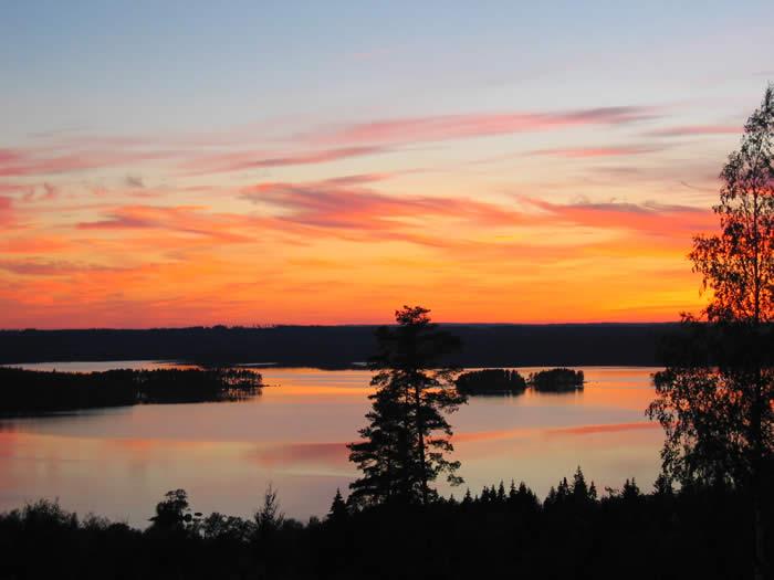 Schweden - Smaland: Svensbygd - Sonnenuntergang