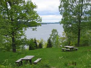Schweden-Smaland: Värnamo - Seeblick im Rusarebo Äng