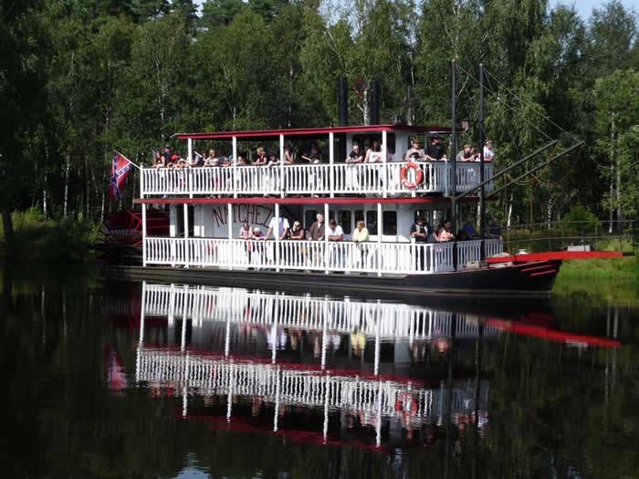 Westernstadt High Chaparral in Smaland - Schweden: Fahrt mit Raddampfer