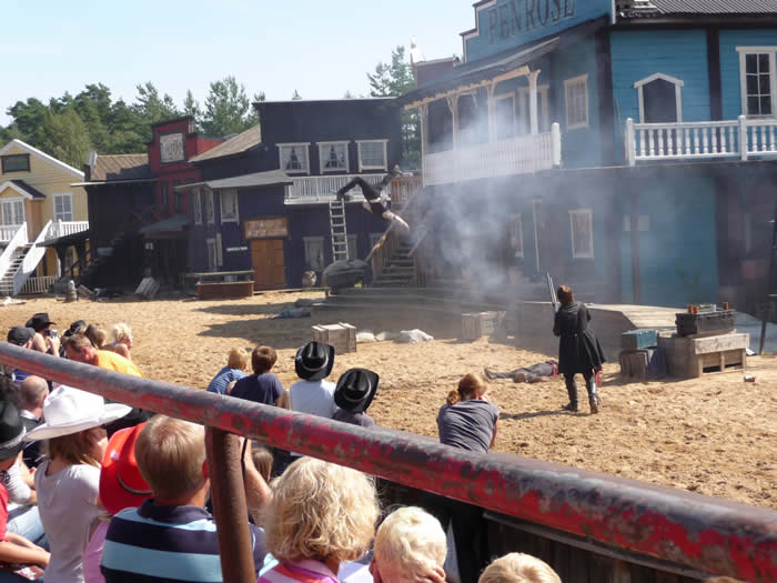 Westernstadt High Chaparral in Smaland - Schweden: Spektakuläre Shows
