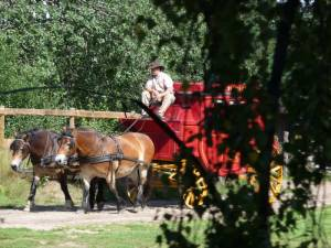 Westernstadt High Chaparral in Smaland - Schweden: Postkutsche