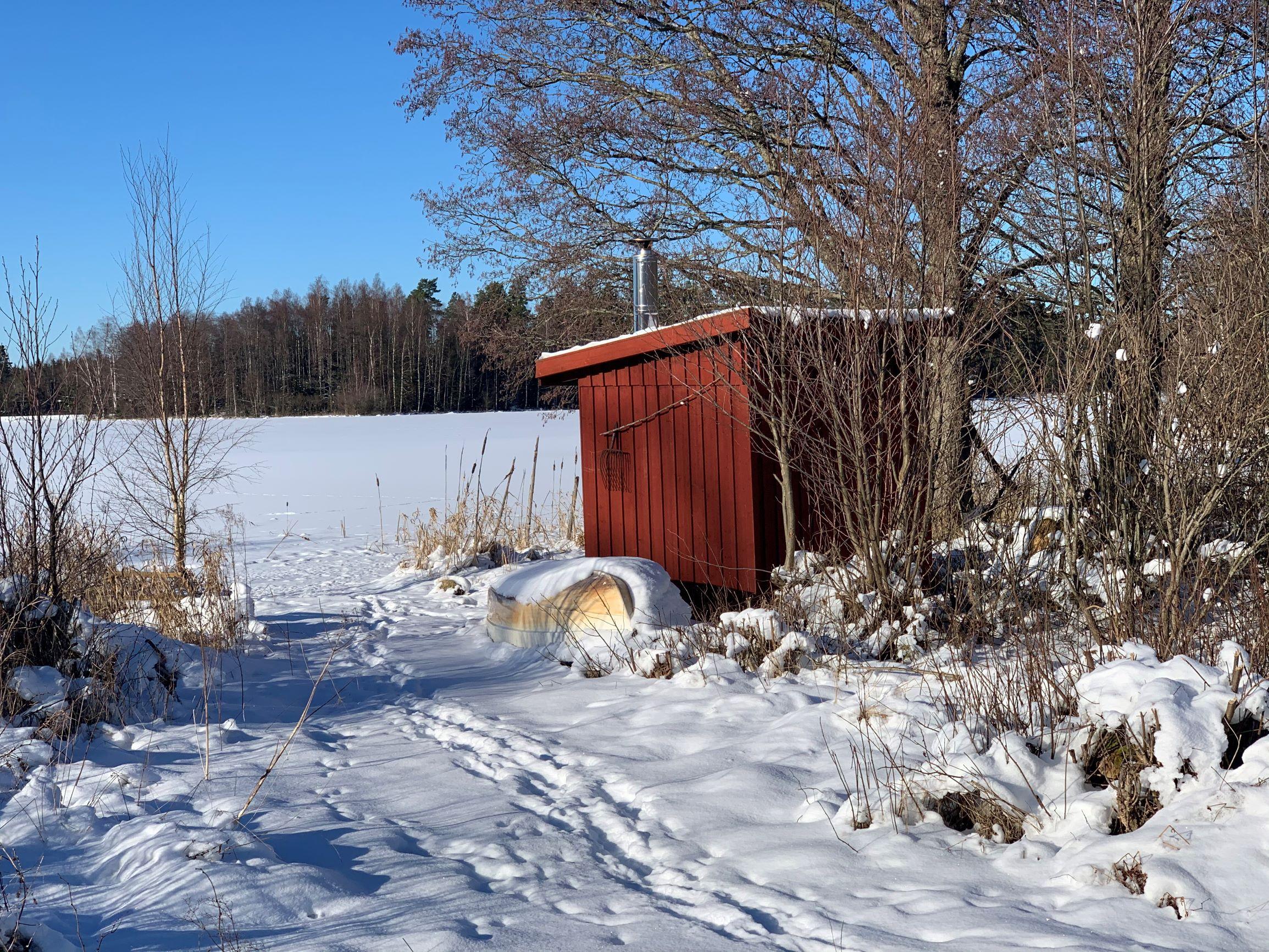 Der See Vrigstadsan Am Torp Staveryd Mit Der Holzbefeuerten Sauna Direkt Am See