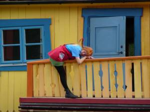 Pippi Langstrumpf im Freizeitpark Astrid Lindgrens Värld in Smaland (Schweden)