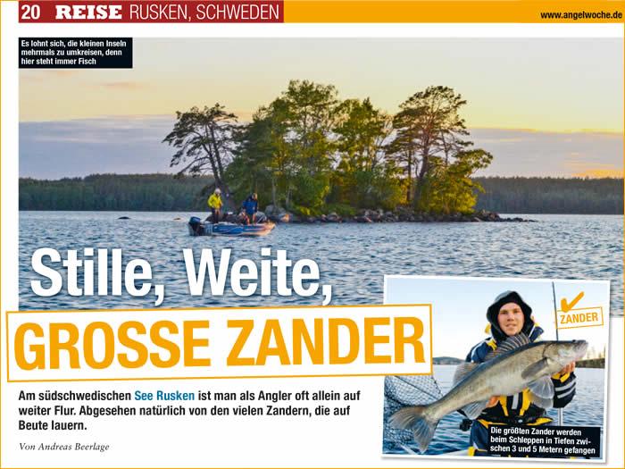 Aktuell: Presse Angelwoche: Zander Angeln Am Ruskensee In Smaland (Schweden) 01/2017