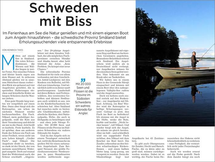 Reisereportage Angeln In Schweden Von Heinrich Thies: Schweden Mit Biss